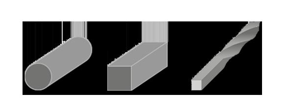 Presentaciones del perfil cuadrado de acero